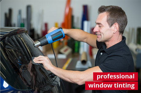 professional window tinting service photo